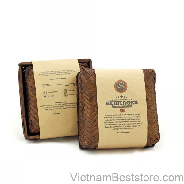 Heritage Cafe  Bamboo Box 125g Bean