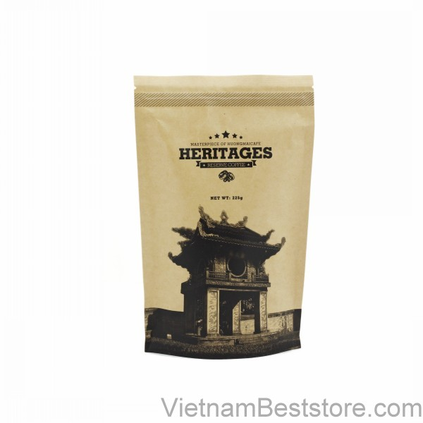 Heritages Coffee Kraft bag  Bean-225g