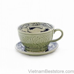 Capuchino Cup  large floral lotus
