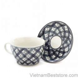 Capuchino Cup large floral four petal